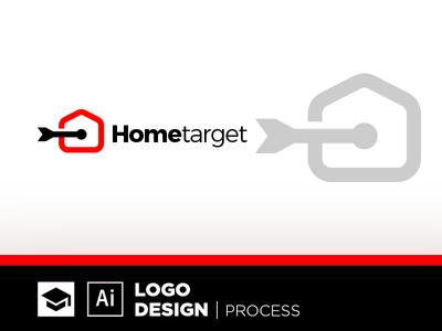 HomeTarget tutorial estate real target home design logo