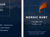 Nordic Ruby 2016 Poster