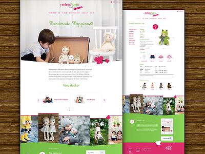 Rubens Barn futura proxima nova products green pink wood dolls