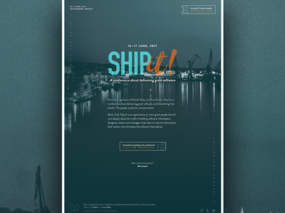 Ship It Landing Page software gothenburg brandon grotesque landing page conference