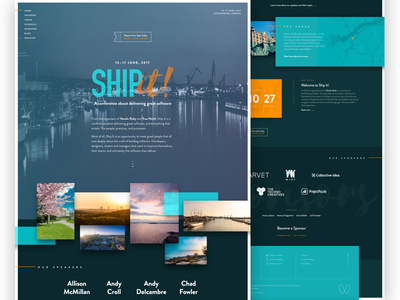 Ship It Conference landing page brandon grotesque landing conference