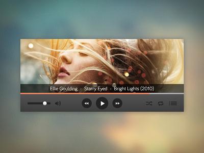 Music Player music player app widget ui dark audio