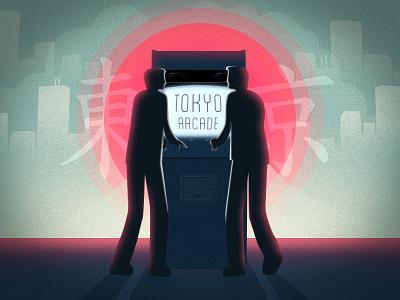 Tokyo Arcade tokyo arcade graphic design illustration