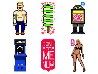 8-Bit Characters 8bit 8 bit pixel art