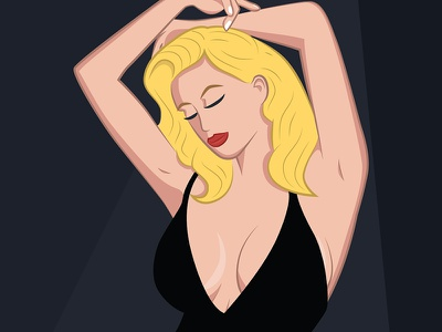 Bombshell pinup model marilyn monroe bombshell blonde