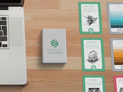 Stormdeck - Sparking inspiration for designers creative inspiration design help deck of cards illustration playing cards cards graphic design stormdeck
