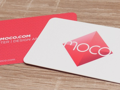 Moco Business Card branding design business card moco