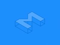 Isometric Logo for M