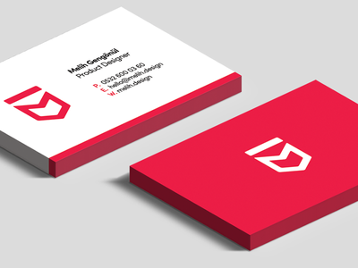 Melih Design (Business Card) design melih id card red business card