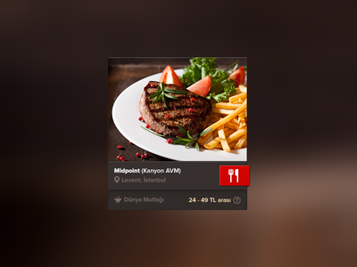 Restaurant Widget restaurant restaurant widget widget food spoting delicious @2x real pixels web design booking