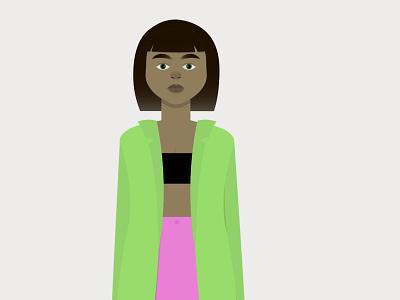 Fresh outfit vector design illustration