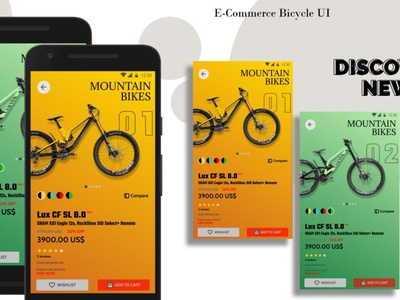 E-Commerce Bicycle UI figma ecommerce userinteraction ui design