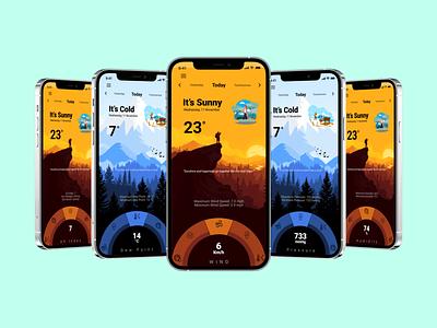 Weather Application design ux ecommerce figma weather app userinterface uiux ui