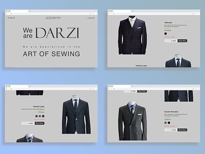 Darzi (A complete suit shop for men's) uiux uidesign ecommerce figma ui design
