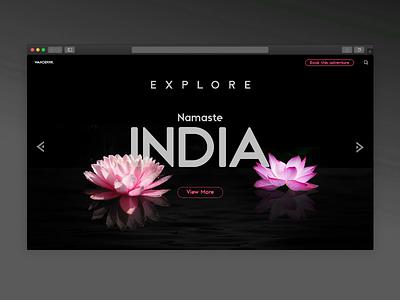 Travelling website Landing Page ui design uiux explore india invision studio studio design ui