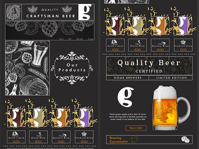 Brewin landing page website web design webdesign brewing beer uidesign uiux ecommerce design ui