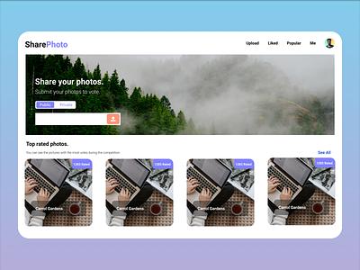 Photo Contest Web App Design app logo ux minimal design web web design webdesign figma figma design