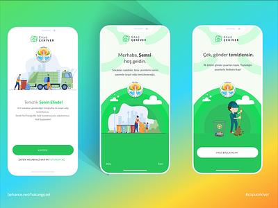 ÇöpüÇekiVer city call clean cleaning minimal ux figma design figma design app