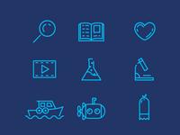 Marine Biology icons