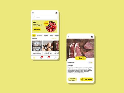 Market App market marketing uiux ux android design app ui
