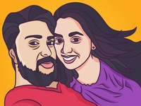 Couple Wedding Caricature