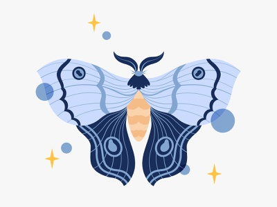 A Year of Growth butterfly moth magical nature art cute animals animal nature procreate digital art illustration
