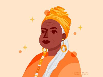 Faith Ringgold black artist blm feminist art women empowerment women character design procreate digital art illustration