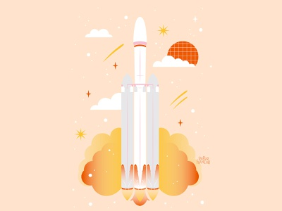 To The Stars and Beyond nasa rocket launch adobe illustrator illustrator shape astronaut space x rocket astronomy design abstract digital art illustration