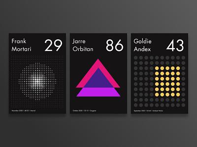 Geometrical music posters poster design graphic design nousis ioannis bauhaus geometric poster music pattern art pattern