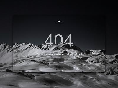 Unsplash Redesign - 404 Page 404 page error page 404 john noussis noussis redesign unsplash