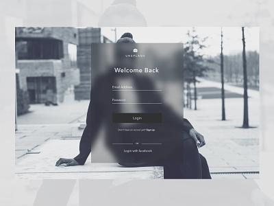Unsplash Redesign - Login Page login page noussis minimal unsplash redesign unsplash login