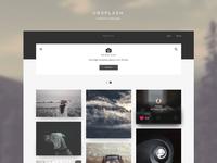 Unsplash Redesign - Homepage