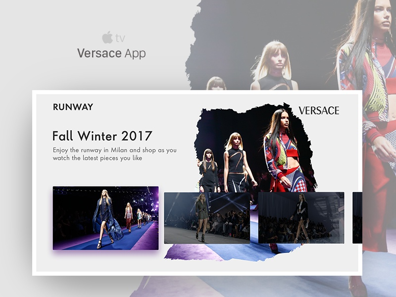 Apple TV Concept - Versace versace tv fashion apple tv apple app