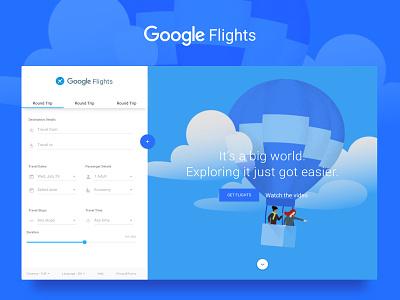 Google Flights - Concept booking tickets travel flights google