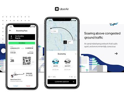 UberAir - WIP john noussis noussis ioannis concept air travel plane uber iphone x boarding pass air travel uber app
