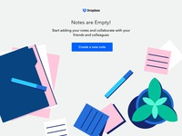 Empty state - Dropbox concept