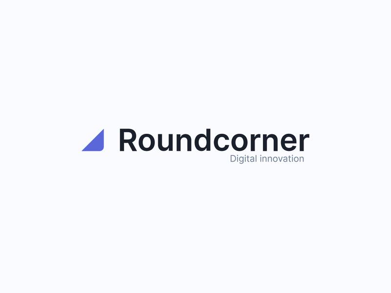 Roundcorner logo brand identity logo design