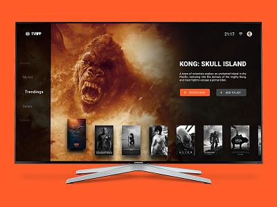 A simple TV app concept. concept tv web ux ui material design debut app