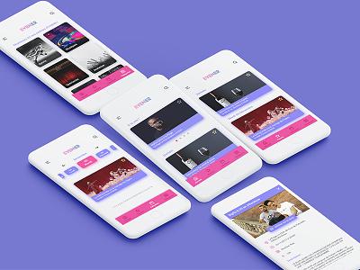 Events app redesign ui tv material design concept app