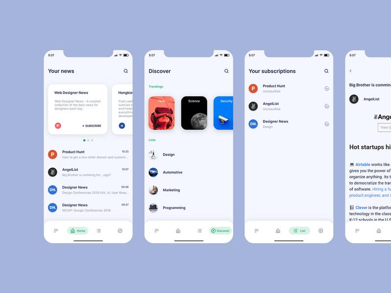 anter app UI design android ios material ux concept ui app