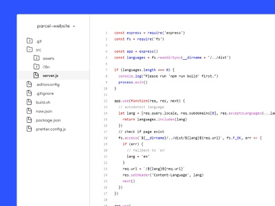 Minimalist code editor windows editor code minimal shot concept design