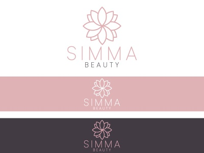 Simma Beauty Logo feminine logo professional logo luxury logo beauty product beauty logo beauty flat design minimalist flatdesign flat professional elegant design highquality logo design logo