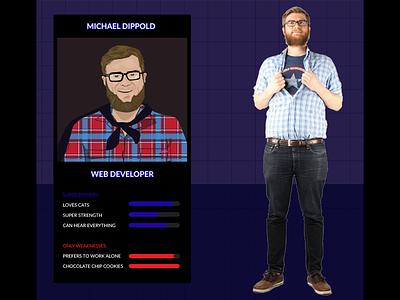 Super Michael video game illustration