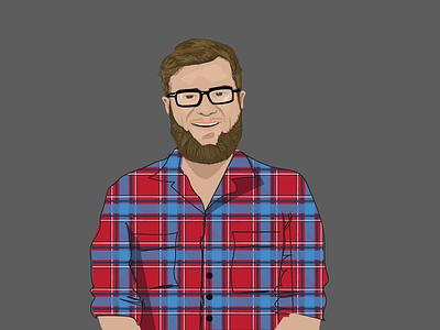 Michael Illustrated hipster flat digital illustration