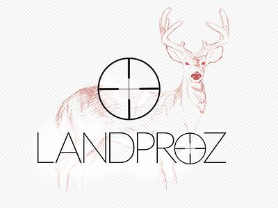 Deer scope hunting deer illustration branding