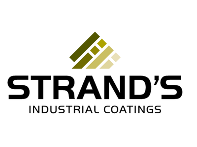 Strands paint industrial coatings branding swatches logo