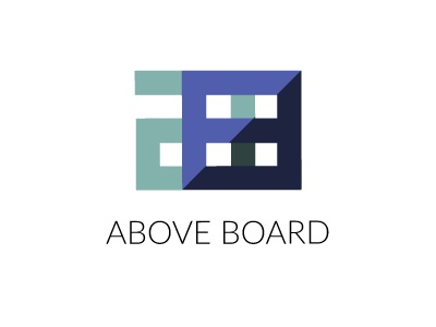 ABOVE BOARD DESIGN LOGO design agency geometric design logo branding