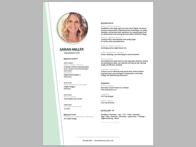 Resume Design concept resume clean resume template graphicdesign layouts gray white green layoutdesign layout print design print resume design resume