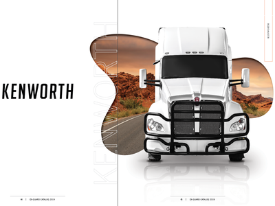 Kenworth page layout typography blob catalog design catalog whitespace white layout layoutdesign kenworth photography