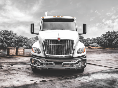 International Truck classic road trees truck graphicdesign lightroom photoshop photograhy